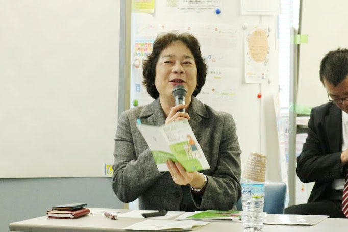 地域円卓会議の様子(春日 康子さん NTT西日本静岡支店)
